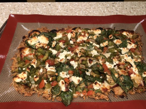 Zero Carb Keto Pizza Crust - zero carb deep dish chicken crust pizza - Perfectly Baked With Toppings