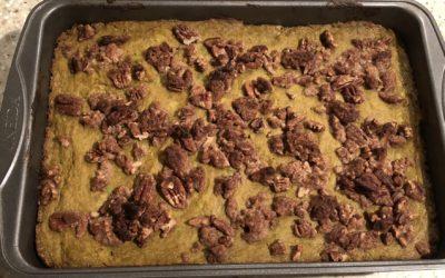 Keto Sweet Potato-Style Casserole   Candy Pecan Topping