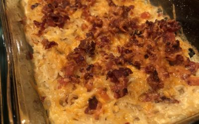 Baked Keto Mac & Cheese   Four Cheeses & Bacon Crumbles