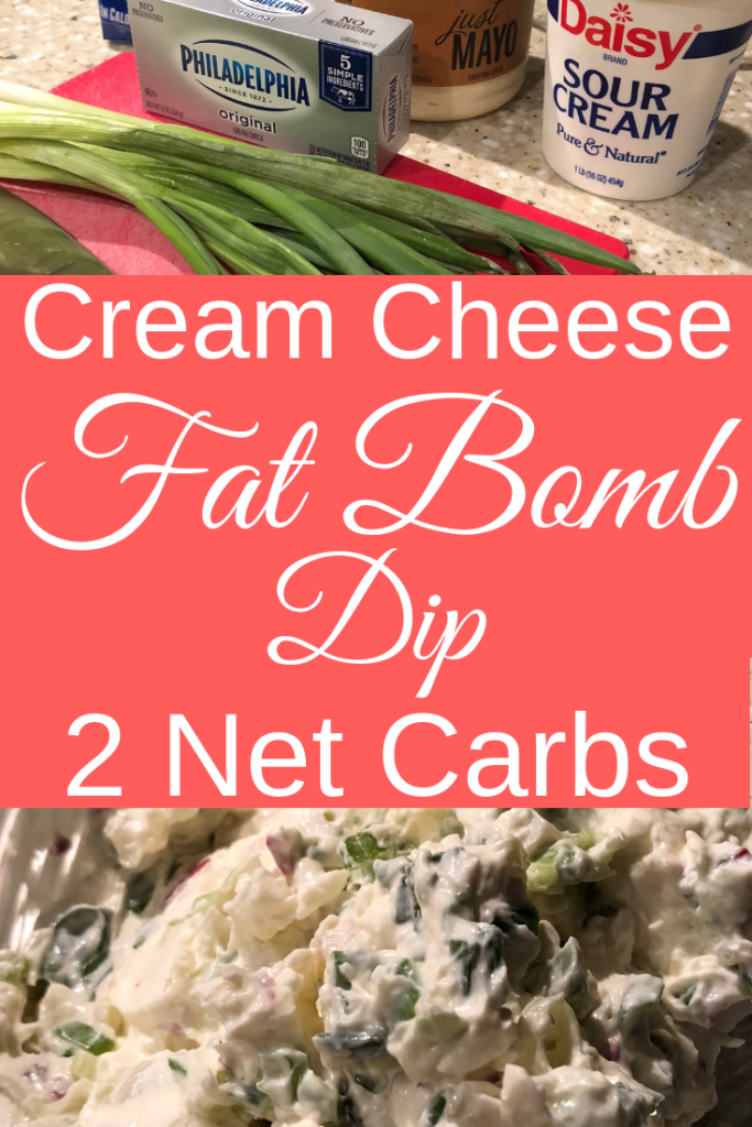 Fat Bomb Chive Cream Cheese Dip Recipe | Keto Fat Bombs