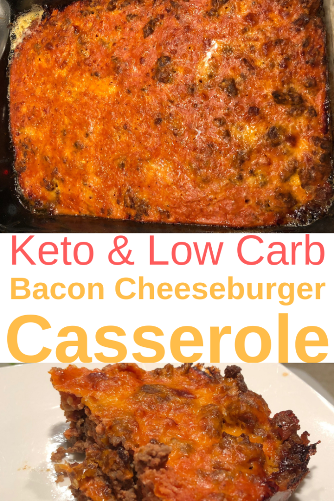 Low Carb Bacon Cheese Burger Casserole | Keto Casserole Dish | One Pan Meals